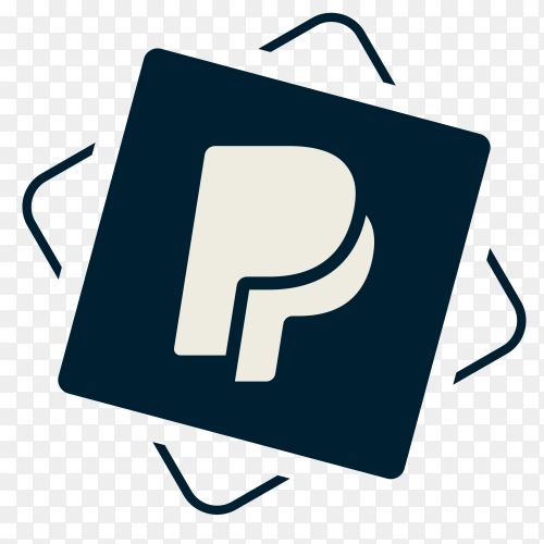Paypal icon on transparent background PNG