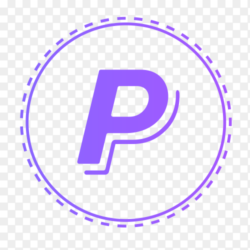 Paypal logo in points circle clip art PNG