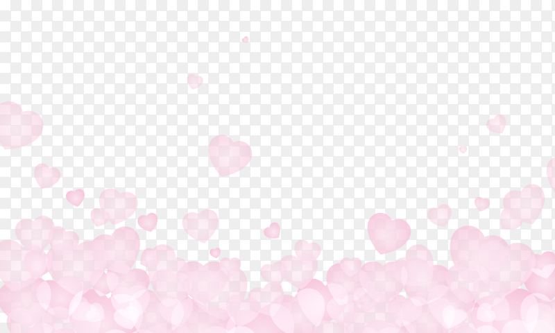 Pink heart abstract on transparent background PNG