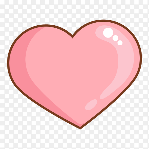 Pink heart premium clipart PNG