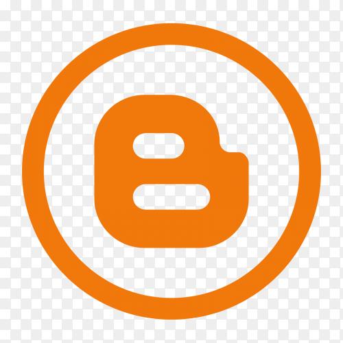 Popular social media Blogger logo on transparent PNG