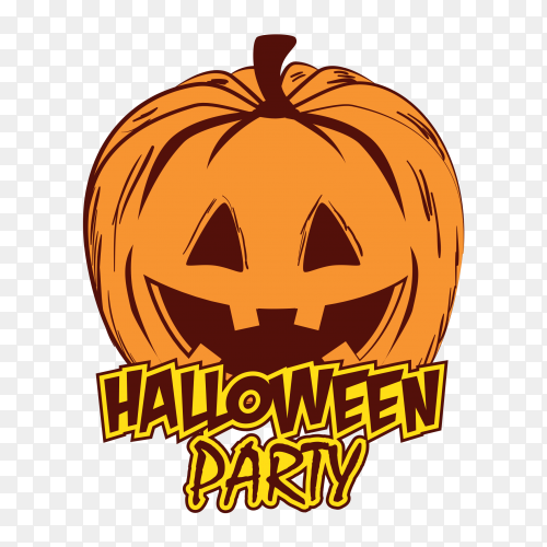 Poster halloween party Clipart PNG