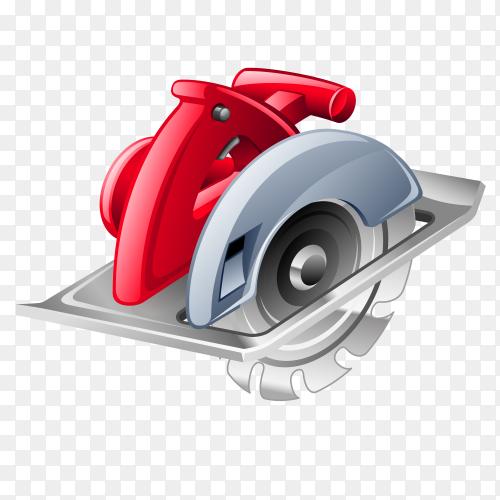 Power Tool Circular Saw with transparent PNG