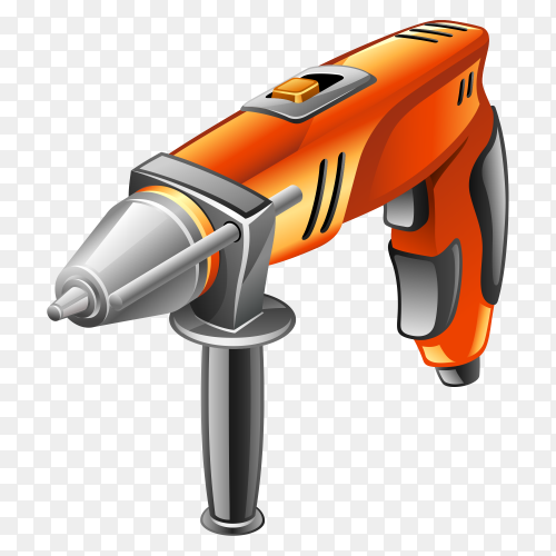Power tool hand drill 3rd model on transparent background PNG