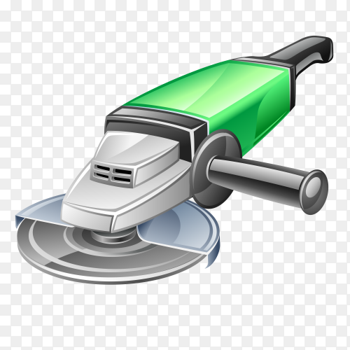 Power tool image cartoon on transparent background PNG