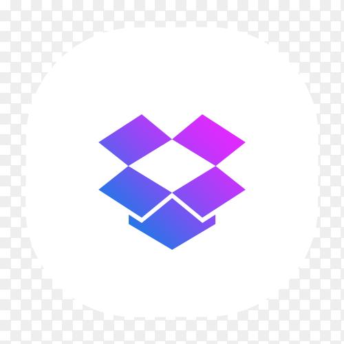Puprel Dropbox logo vector PNG