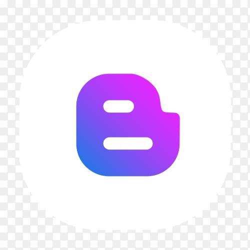 Purple Blogger logo vector PNG