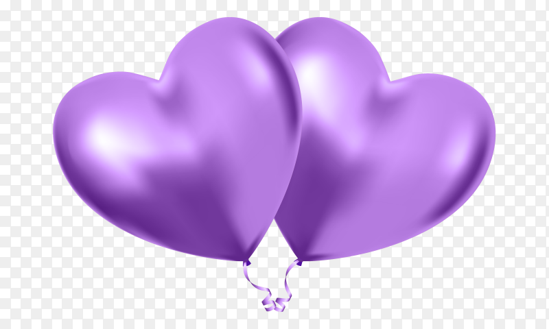 Purple heart with fully love expressions on Transparent PNG