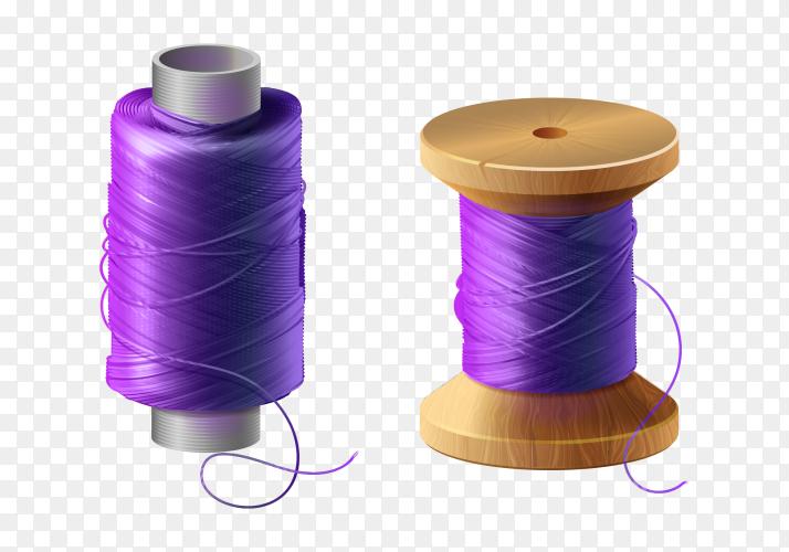 Purple thread on transparent PNG