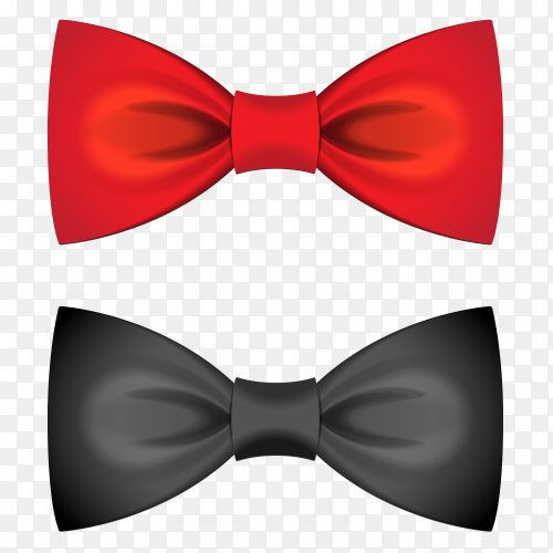 Red and black bow Clipart PNG