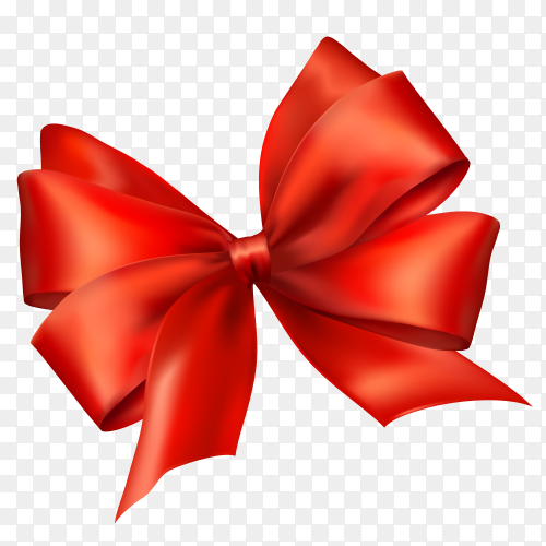 Red bow and ribbon Clipart PNG