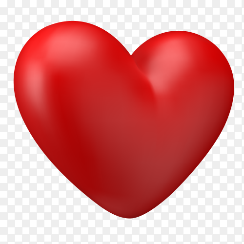 Red heart with fully love expressions on Transparent PNG (3)