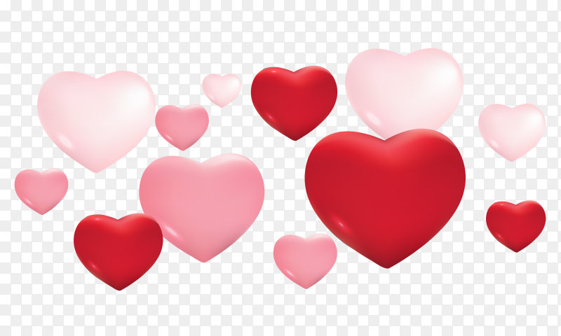Red heart with fully love expressions on Transparent PNG (5)