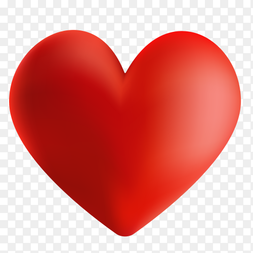 Red heart with fully love expressions on Transparent PNG
