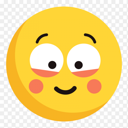 Rolling eyes face vector on transparent background PNG