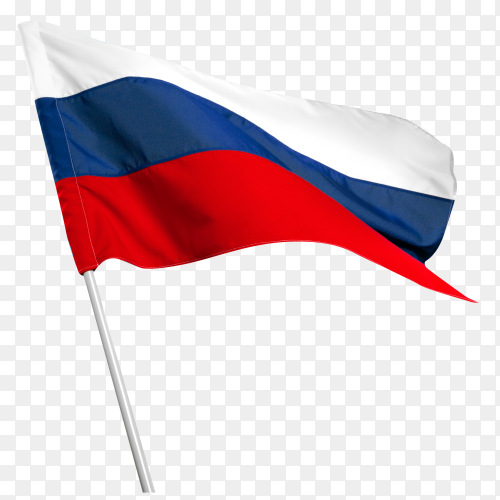 Russia flag waving royalty free PNG