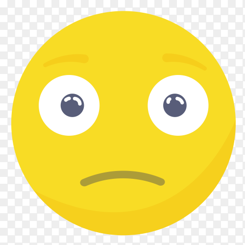 Sad emoji face vector PNG