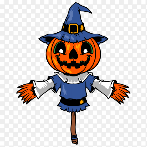 Scarecrow halloween on transparent PNG