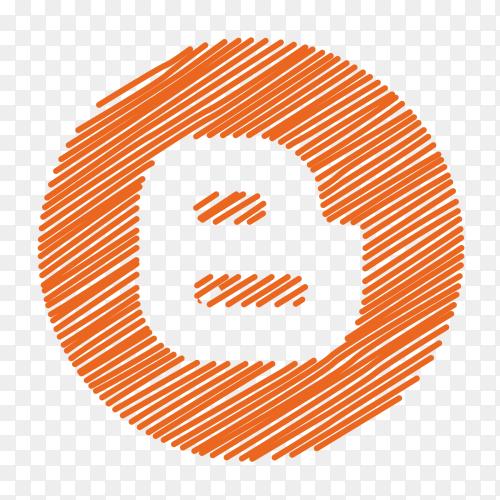 Scribble logo Blogger vector PNG