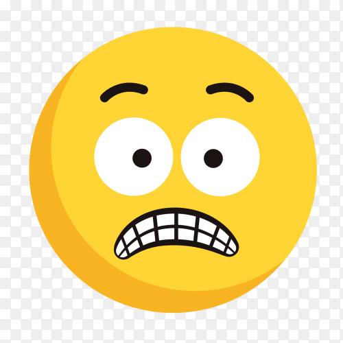 Shocked emoji vector on transparent background PNG