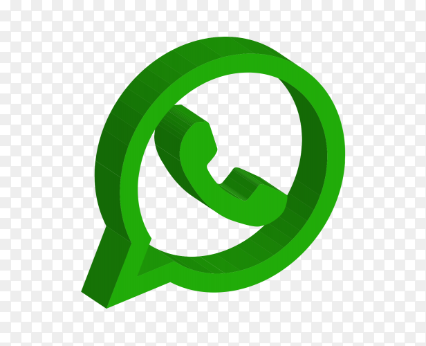 Simple Whatsapp logo vector PNG
