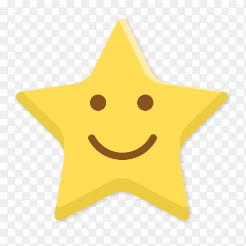 Smile star emoji vector PNG