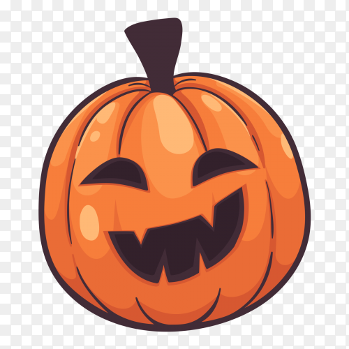 Smiling halloween pumpkins vector PNG