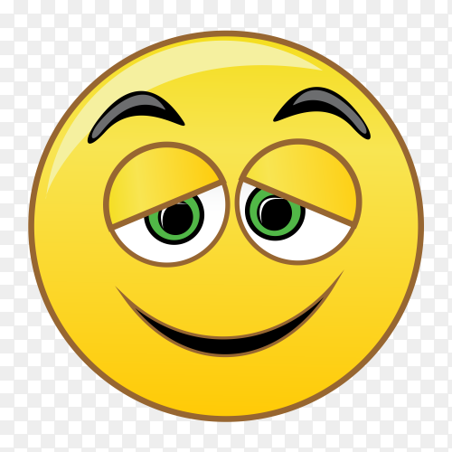 Smiley face on transparent background PNG