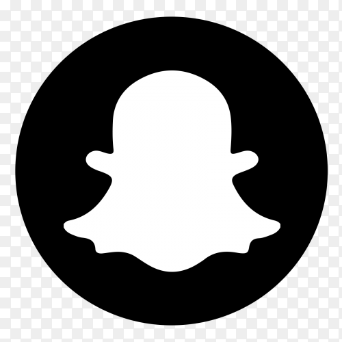 Snapchat  icon logo on transparent PNG