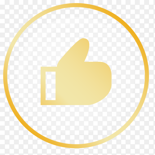 Social media like icon vector PNG