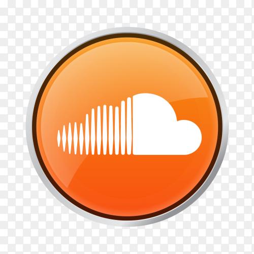 Soundcloud icon logo on transparent PNG