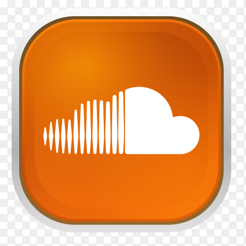 Soundcloud logo with gray frame  vector PNG