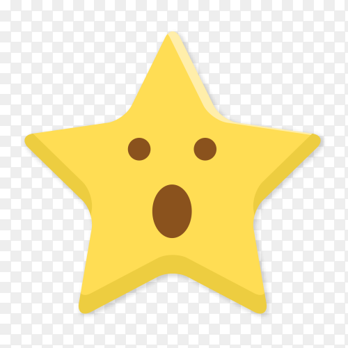 Star face with open mouth vector PNG