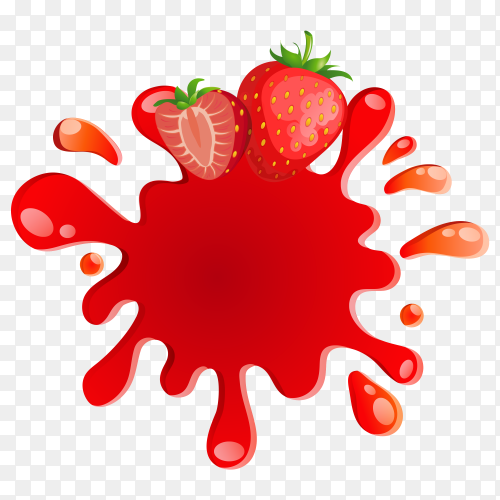 Strawberry fruit vector PNG