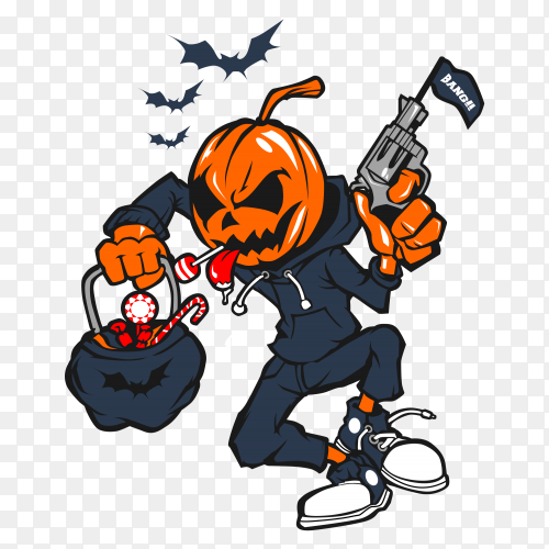 Sweet business Pumpkin Helloween on transparent PNG