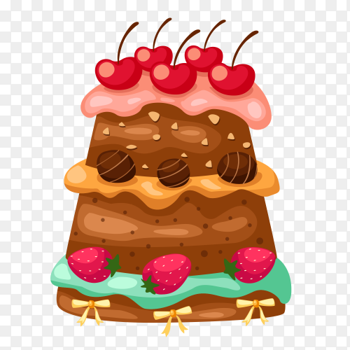 Tasty chocolate cake Clipart PNG