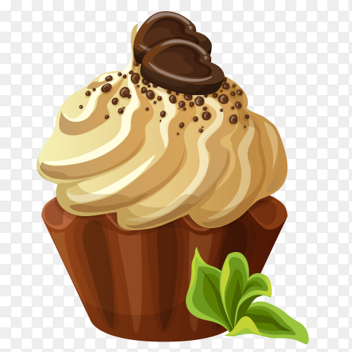 Tasty chocolate icecream clipart PNG