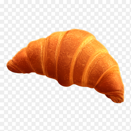Tasty croissant on transparent background PNG