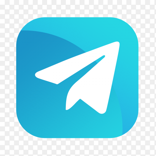 Telegram icon on transparent background PNG