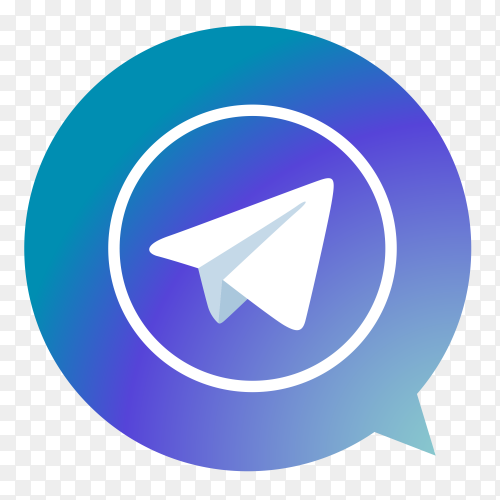 Telegram logo form poi vector PNG