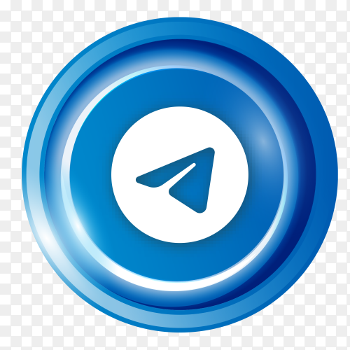 Telegram logo in Luminous circle  clip art PNG