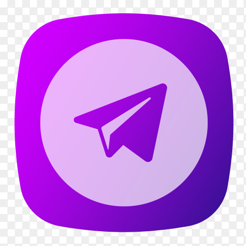 Telegram logo purple vector PNG