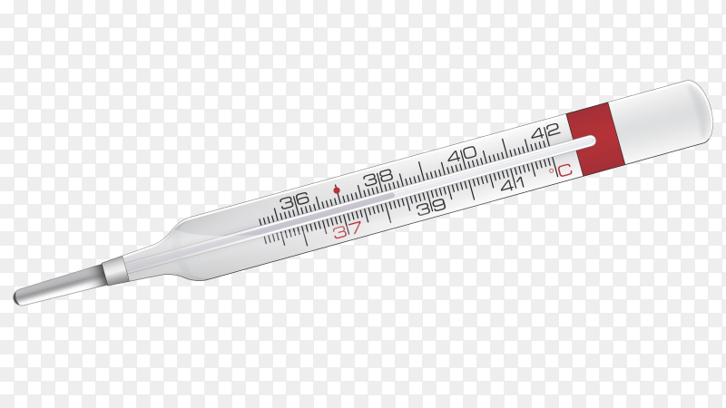 Thermometer on transparent background PNG