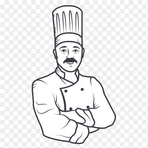 Tide arms chef on transparent background PNG