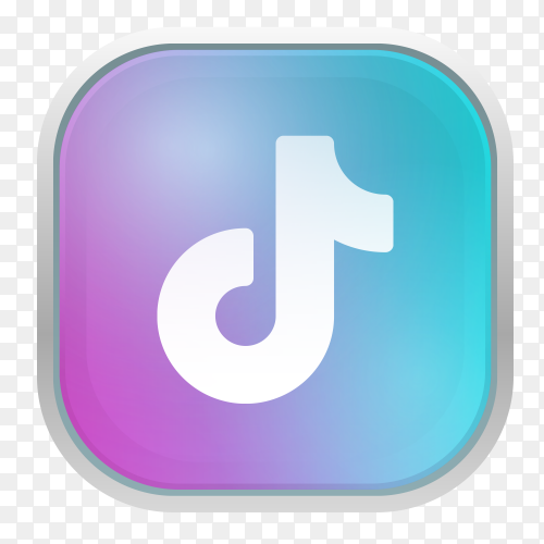 TikTok logo with gray frame vector PNG