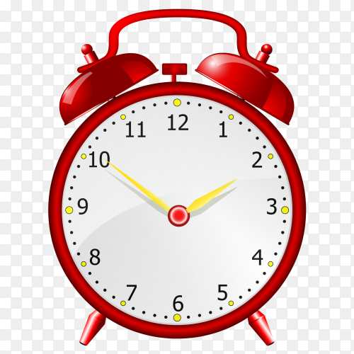 Time alarm clock red vector PNG
