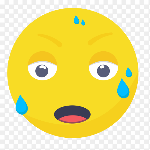 Tired emoji face Clipart PNG