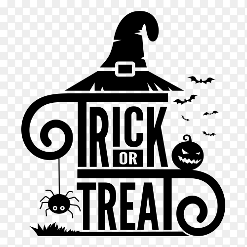 Trick treat lettering vector PNG