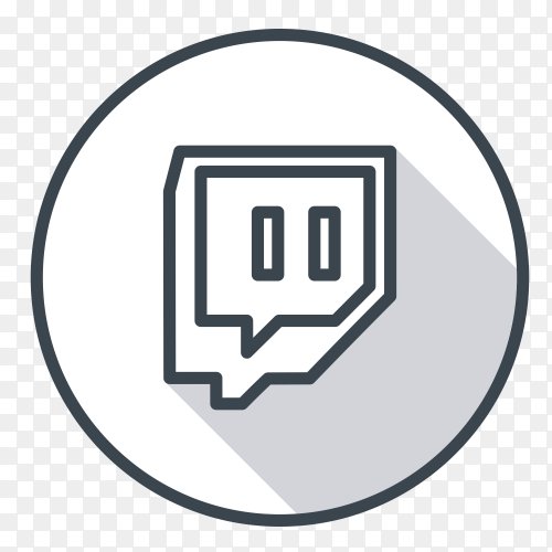 Twitch logo gray color on transparent background PNG