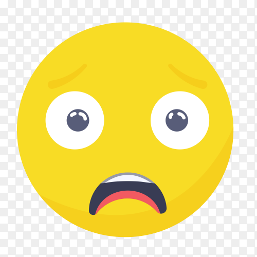 Upset emoji face on transparent PNG